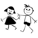 mom and dad stick figures